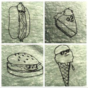 XL MENS TANK TOP shirt BBQ FOOD burger hotdog pie